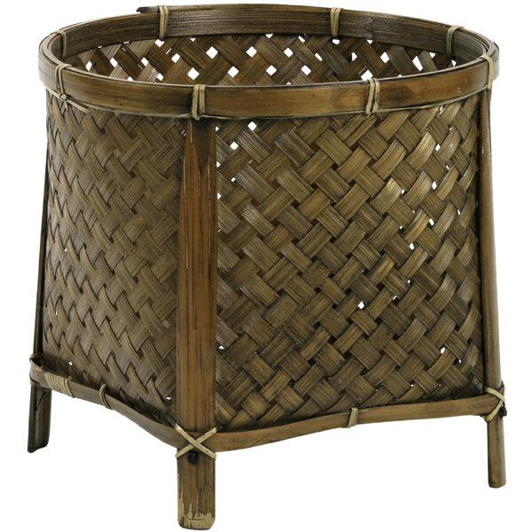 《 かご ベース 》創元舎/ソウゲンシャ バンブー足付Y-3用 茶 バスケット 鉢