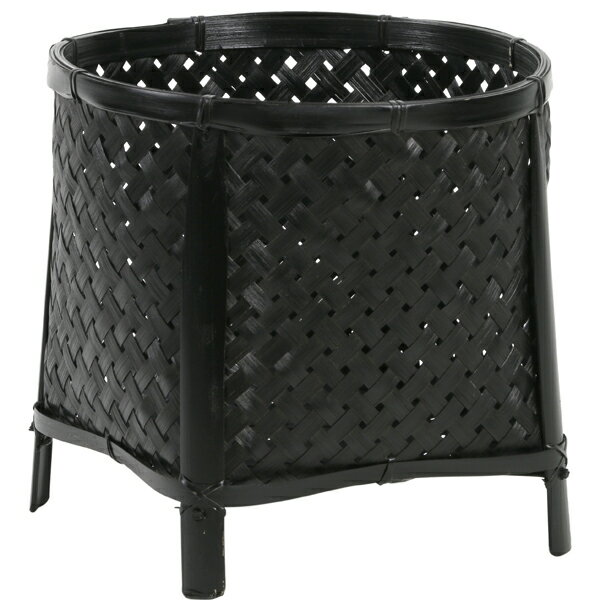 《 かご ベース 》創元舎/ソウゲンシャ バンブー足付Y-3用 黒 バスケット 鉢
