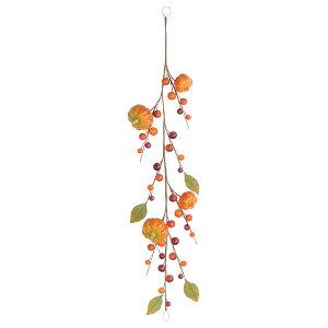 《 フェイクフルーツ 》◆とりよせ品◆Asca パンプキンガーランド オレンジインテリア
