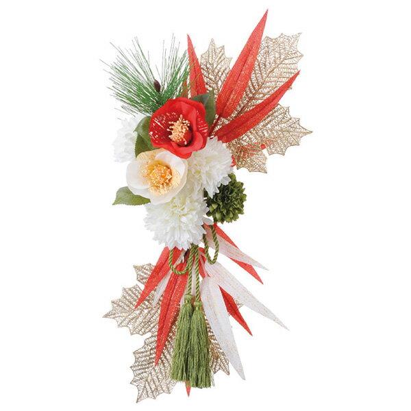 《 お正月飾り 》Asca/アスカ 紅白椿の壁飾り 新年 新春 迎春