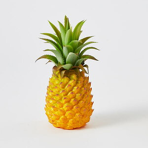 《 フェイクフルーツ 》◆とりよせ品◆花びし パイナップル(小) イエローインテリア イミテーション