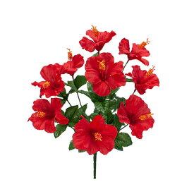 《 造花 》◆とりよせ品◆花びし ハイビスカスブッシュ×9 レッドインテリア インテリアフラワー