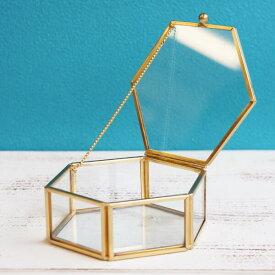 《 ガラス ベース 》★即日出荷★POSH LIVING ガラスケースS 六角形 コンポート