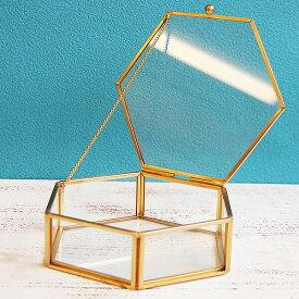 《 ガラス ベース 》★即日出荷★POSH LIVING ガラスケースL 六角形 コンポート