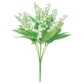 《 造花 》◆とりよせ品◆Asca ☆スズランブッシュ クリームホワイトインテリア