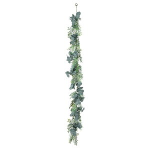 《 造花 グリーン 》◆とりよせ品◆Asca ユーカリミックスガーランド グレイグリーンインテリア
