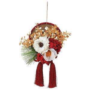 《 お正月飾り 》◆とりよせ品◆Asca(アスカ) 椿とピオニーの壁飾り しめ縄 注連縄