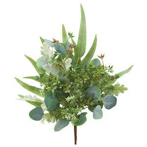 《 クリスマス 造花 葉っぱ 》◆とりよせ品◆Asca ユーカリミックスブッシュ リーフ ホーリー