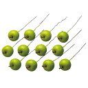 《フェイクフルーツ》◆とりよせ品◆Asca アップルピック(1袋12本入) グリーンインテリア