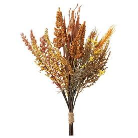 《 造花 グリーン 》◆とりよせ品◆Asca ウィートミックスバンチ ブラウンインテリア