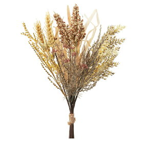 《 造花 グリーン 》◆とりよせ品◆Asca ウィートミックスバンチ クリームブラウンインテリア