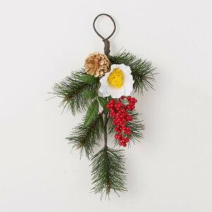 《 お正月飾り 》◆とりよせ品◆花びし 迎春ドア飾り ホワイトしめ縄 注連縄