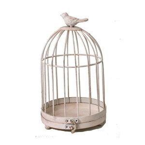 《 鳥かご ベース 》★即日出荷★カルチベーター 小鳥のとりかご バードケージ アイアン アンティークホワイトバード