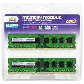 CFD DDR3−1600 240pin DIMM (8GB 2枚組) W3U1600PS‐8G