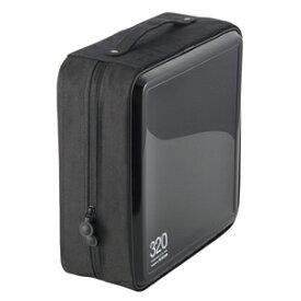 エレコム ELECOM CD/DVDファスナーケース「セミハード」(320枚収) CCD‐H320BK (ブラック)