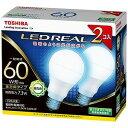 東芝 LED電球(昼白色・口金E26)2本入り「一般電球タイプ」 LDA7N‐G/60W‐2P