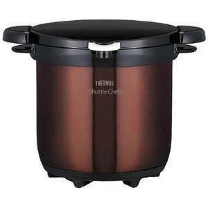 サーモス 真空保温調理器「シャトルシェフ」(4.5L) KBG‐4500‐CBW(クリアブラウン)(送料無料)