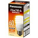 パナソニック 電球形蛍光灯パルックボール 電球60WタイプD形・電球色 EFD15EL11E
