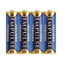 東芝 「単3形乾電池」アルカリ乾電池×4本 「IMPULSE」 LR6H 4KP
