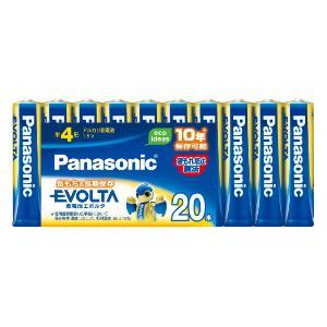 パナソニック 「単4形乾電池」アルカリ乾電池×20本 「エボルタ」 LR03EJ/20SW