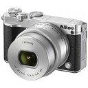 ニコン ミラーレス一眼カメラ Nikon 1 J5 標準パワーズームレンズキット J5HPLKSL(シルバー)(送料無料)