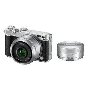 ニコン ミラーレス一眼カメラ Nikon 1 J5 ダブルレンズキット J5WLKSL(シルバー)(送料無料)