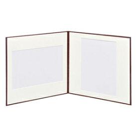 ハクバ スリムスクウェア台紙 A4 2面 (カラー:ブラウン) スリムSQ A4D2メン ブラウン