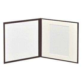 ハクバ スリムスクウェア台紙 2L(カビネ) 2面 (カラー:ブラウン) スリムスクウェア台紙 2L