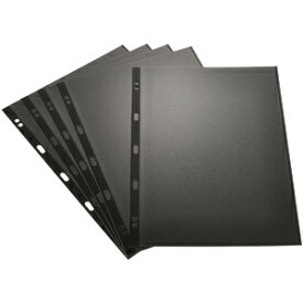 ナカバヤシ 100年台紙用 バインダー式フリー替台紙5枚入 (A4サイズ/ブラック) アH‐A4YR‐5