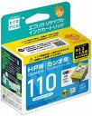 エコリカ 「互換」「HP・CB304AA対応」 リサイクルインクカートリッジ (カラー) ECI‐HP110C‐V