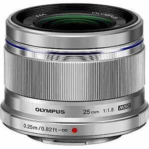 オリンパス M.ZUIKO DIGITAL 25mm F1.8「マイクロフォーサーズマウント」(シルバー) 25MMF1.8(送料無料)