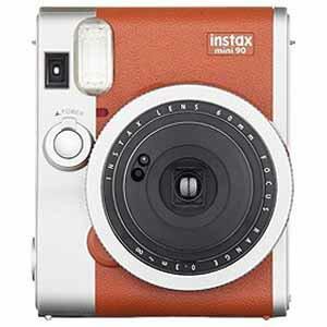 富士フィルム インスタントカメラ instax mini 90 『チェキ』 ネオクラシック ブラウン INSTAXMINI90BROWN