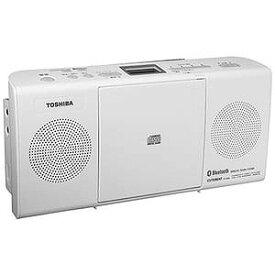 東芝 「ワイドFM対応」CDラジオ(ラジオ+CD)(ホワイト) TY‐CW26 W