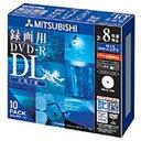 三菱化学 録画用DVD−R DL 2−8倍速 CPRM対応 10枚「インクジェットプリンタ対応」  VHR21HDSP10