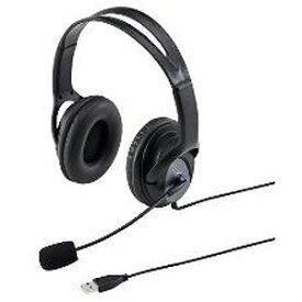 サンワサプライ 「Windows8対応」ヘッドセット「USB」 両耳オーバーヘッドタイプ(ブラック) MM‐HSUSB17BK