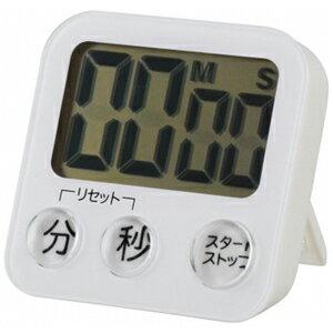 オーム電機 大画面デジタルタイマー COK‐T130‐W (ホワイト)