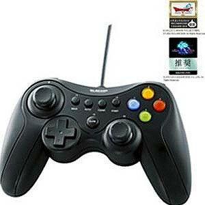 エレコム USBゲームパッド 13ボタンタイプ デジタル/アナログ対応 JC‐U3613MBK (ブラック)