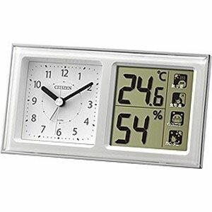 シチズン 温湿度計付き目覚まし時計「ライフナビ648A」  8RE648‐A03 (白)