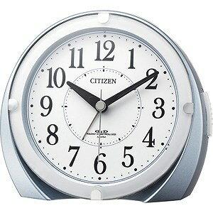 リズム時計工業 電波目覚まし時計「ネムリーナマロンF」  4RL431‐N04 (青メタリック色)