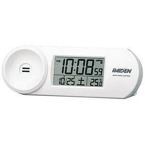 電波目覚まし時計 NR532W(白)