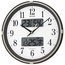 リズム時計工業 電波掛け時計「フィットウェーブリブ」 4FYA07SR06