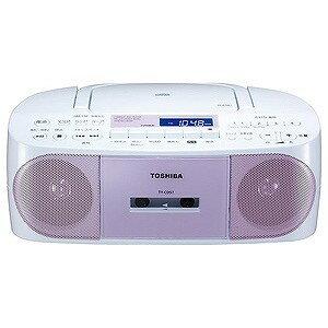 東芝 「ワイドFM対応」CDラジオカセットレコーダー TY‐CDS7 P (ピンク)(送料無料)