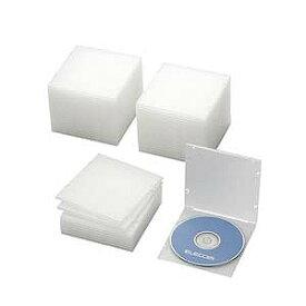 エレコム CD/DVD/Blu−ray対応収納スリムケース(1枚収納×50セット) CCD‐JPCS50CR (クリア)