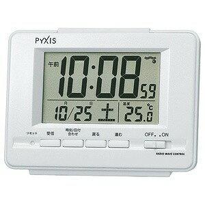セイコー 電波目覚まし時計 NR535H (白パール)