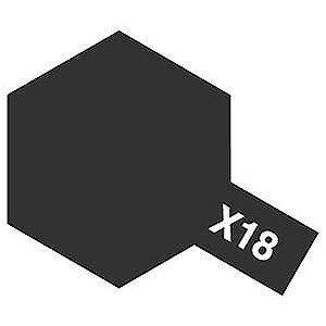 タミヤカラー エナメル塗料 光沢 X18 セミグロスブラック 10ml 80018