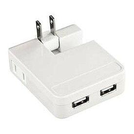 サンワサプライ iPad/iPhone/iPod対応USB充電タップ型ACアダプタ(USB2ポート) ACA‐IP25W