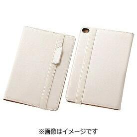 レイ・アウト iPad mini 4用ブックレザーケース 合皮 ホワイト RT‐PM3LBC1/W