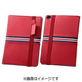 レイ・アウト iPad mini 4用トリコロール・ブックレザーケース 合皮 レッド RT‐PM3LC4/R