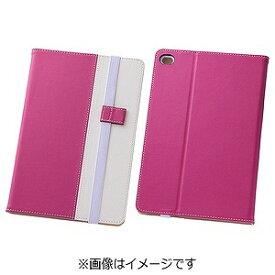 レイ・アウト iPad mini 4用バイカラー・ブックレザーケース 合皮 ピンク/ホワイト RT‐PM3LC7/PW