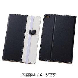 レイ・アウト iPad mini 4用バイカラー・ブックレザーケース 合皮 ブラック/ホワイト RT‐PM3LC7/BW